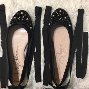 Black Suede shoes- Libby Edelman.